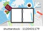 diary for travel planning.... | Shutterstock .eps vector #1120431179