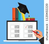 online exam concept  taking...   Shutterstock .eps vector #1120432220