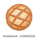rye round dark bread. realistic ...   Shutterstock .eps vector #1120432226