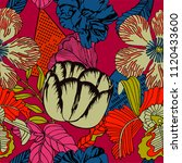 vector seamless tropical plant... | Shutterstock .eps vector #1120433600