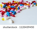 different colorful medicines.... | Shutterstock . vector #1120439450