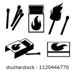 black silhouette. collection of ... | Shutterstock .eps vector #1120446770