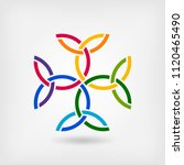 carolingian cross trinity knots.... | Shutterstock .eps vector #1120465490