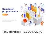 computer programmers modern... | Shutterstock .eps vector #1120472240