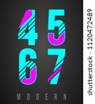 number font modern design. set... | Shutterstock .eps vector #1120472489