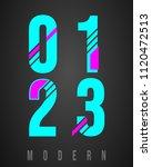 number font modern design. set... | Shutterstock .eps vector #1120472513
