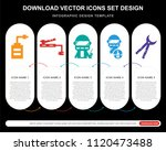 5 vector icons such as saw ... | Shutterstock .eps vector #1120473488