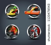 race car and motorbike set ...