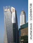 dubai skyscrapers. dubai marina ... | Shutterstock . vector #1120484738