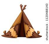 ancient man hut. prehistoric... | Shutterstock .eps vector #1120488140