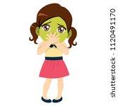 cute little girl sick with...   Shutterstock .eps vector #1120491170