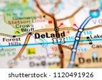 deland. florida. usa on a map   Shutterstock . vector #1120491926