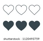 new heart icons  concept of... | Shutterstock .eps vector #1120493759