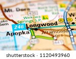 longwood. florida. usa on a map   Shutterstock . vector #1120493960