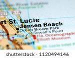 jensen beach. florida. usa on a ... | Shutterstock . vector #1120494146