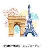 bastille day. 14th of  july.... | Shutterstock . vector #1120494443