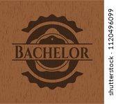 bachelor retro wooden emblem   Shutterstock .eps vector #1120496099