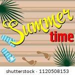 hello summer.  poster design... | Shutterstock .eps vector #1120508153