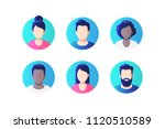 avatar profile picture icon set ... | Shutterstock .eps vector #1120510589