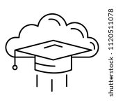 graduated in cloud icon.... | Shutterstock .eps vector #1120511078