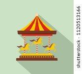 Horse Carousel Icon. Flat...