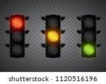 realistic 3d led traffic lights ... | Shutterstock .eps vector #1120516196