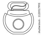 floss open box icon. outline... | Shutterstock .eps vector #1120517993
