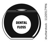 round box floss icon. simple... | Shutterstock .eps vector #1120517996