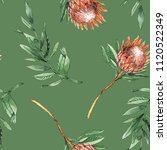 green watercolor seamless... | Shutterstock . vector #1120522349