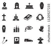 funeral icons. black scribble...   Shutterstock .eps vector #1120527233