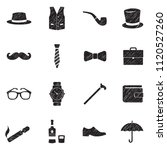 gentleman icons. black scribble ... | Shutterstock .eps vector #1120527260