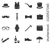 gentleman icons. black scribble ...   Shutterstock .eps vector #1120527260