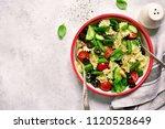 pasta salad with vegetable ... | Shutterstock . vector #1120528649
