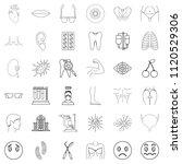 medico icons set. outline set...   Shutterstock . vector #1120529306