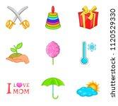 adolescent icons set. cartoon...   Shutterstock . vector #1120529330