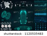 car service in the style of hud ... | Shutterstock .eps vector #1120535483