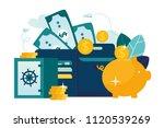 vector flat illustration  large ... | Shutterstock .eps vector #1120539269