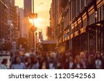 crowds of anonymous people walk ...   Shutterstock . vector #1120542563