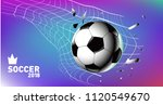 soccer vector illustration.... | Shutterstock .eps vector #1120549670