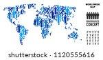 vector population world map.... | Shutterstock .eps vector #1120555616