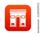 triumphal arch icon digital red ... | Shutterstock . vector #1120555913