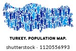 vector population turkey map.... | Shutterstock .eps vector #1120556993