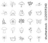 variety of flora icons set....   Shutterstock . vector #1120559240