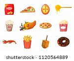 food icon set. cartoon set of... | Shutterstock . vector #1120564889