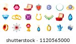 jewerly icon set. cartoon set... | Shutterstock . vector #1120565000