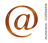sparkling orange plastic at... | Shutterstock . vector #1120566446