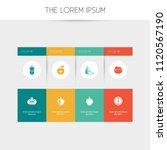set of 8 editable food icons....