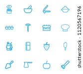 set of 16 editable cook icons...