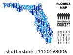 vector population florida map.... | Shutterstock .eps vector #1120568006