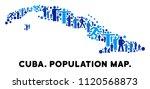 vector population cuba map.... | Shutterstock .eps vector #1120568873